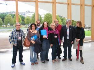 Algunos miembros de la asociación.